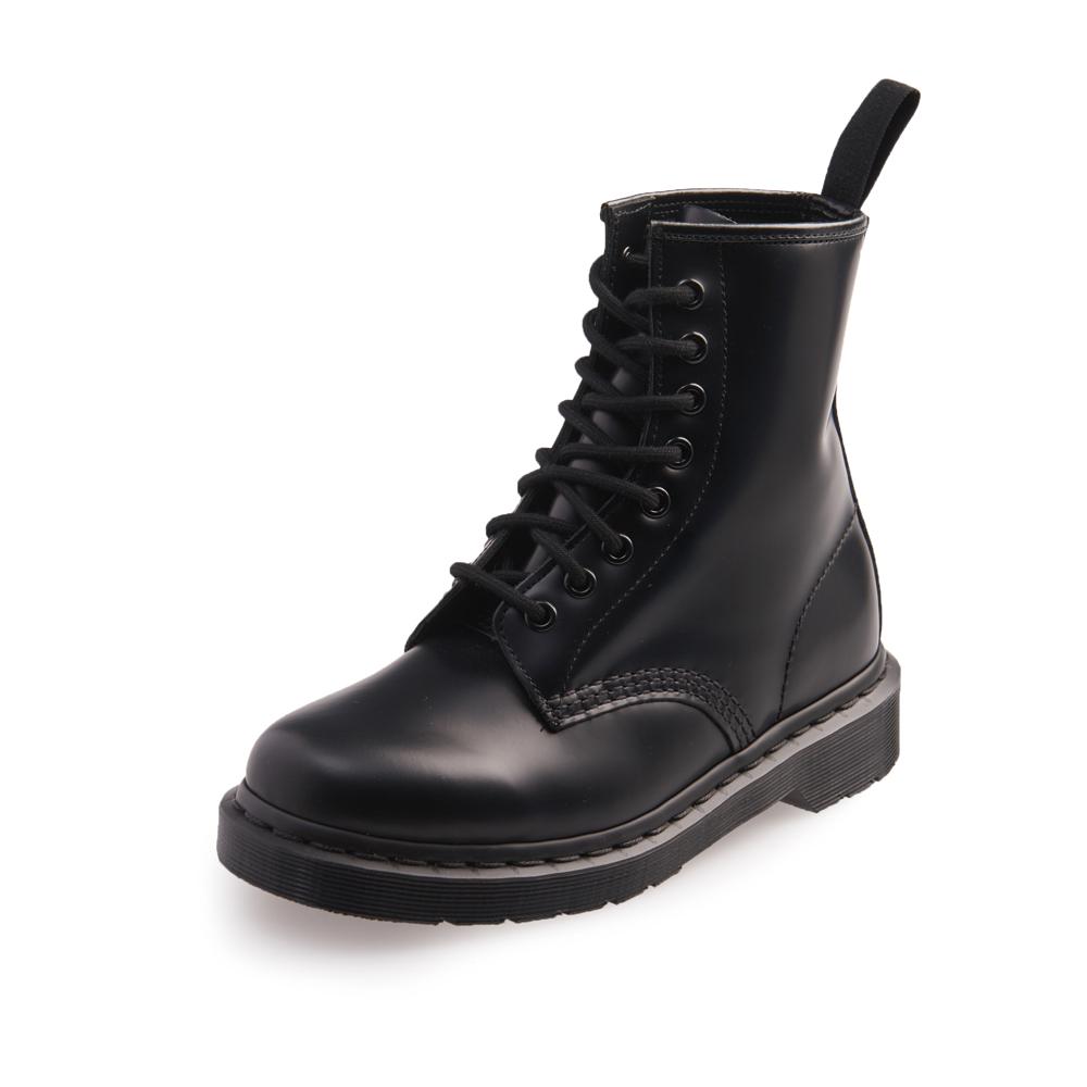 Dr.Martens-經典1460 MONO 8孔真皮馬汀馬丁靴-女款-黑