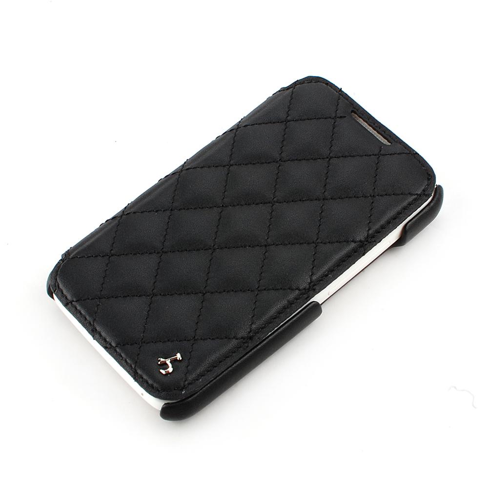 皮套王精品手工 HTC One X 菱格紋 硬殼式PDA式+側翻(925銀五金)