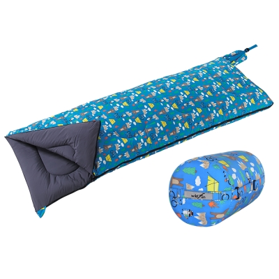 WildFun 野放可拼接方型童趣羊毛睡袋 露營熊