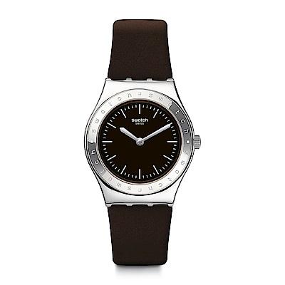 Swatch 就是SWATCH LIE DE VIN 溫暖深棕手錶