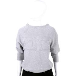 ELISABETTA FRANCHI 灰色圖騰設計長袖上衣