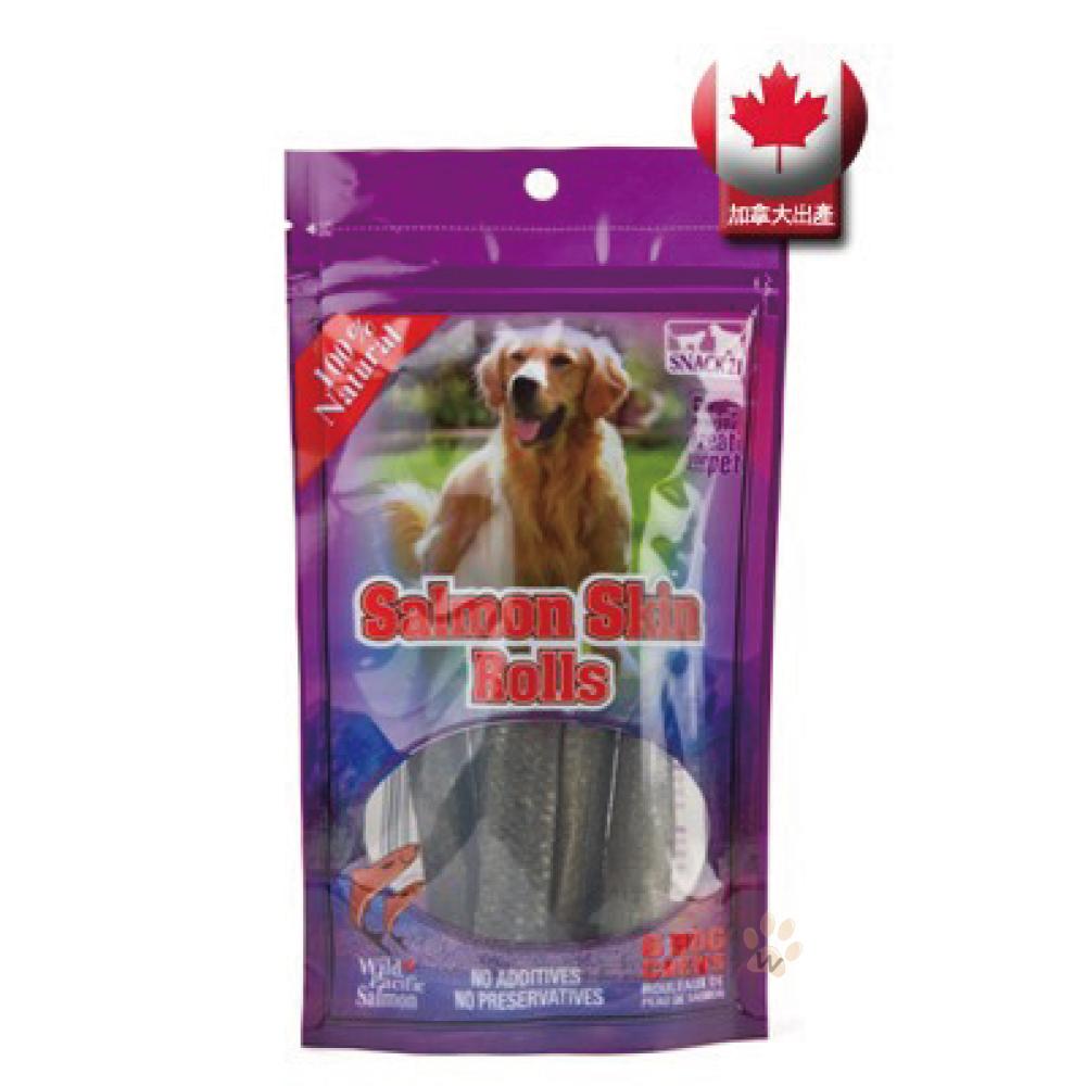 魚太郎狗狗專用鮭魚皮捲六支1包入