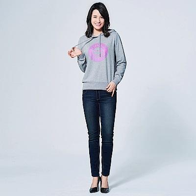 GIORDANO 女裝刷色彈力緊身牛仔褲 - 46 深靛藍