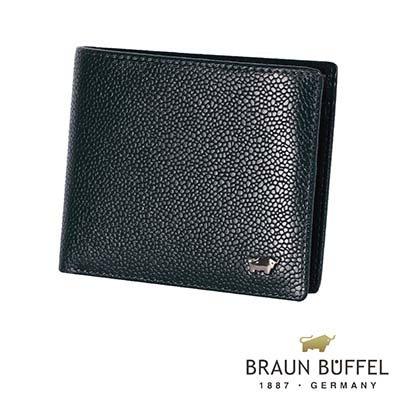BRAUN BUFFEL - CHUCHO丘喬系列12卡中間翻透明窗皮夾 - 深藍色
