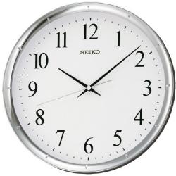 SEIKO 精工 滑動式秒針 靜音掛鐘(QXA417S)-白/31cm