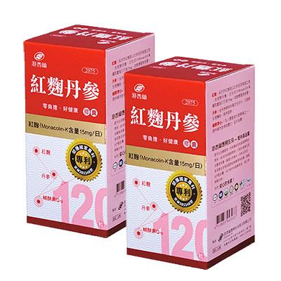 港香蘭 紅麴丹參(120錠/瓶)二入組