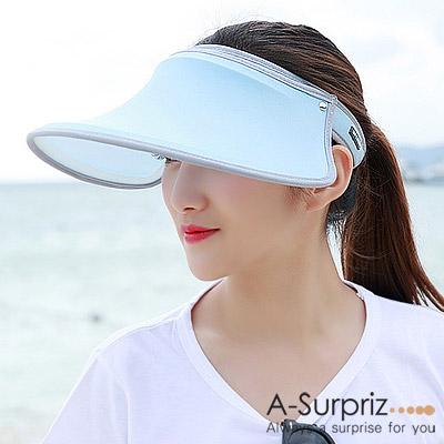 A-Surpriz-彈力抗UV防曬帽-天藍