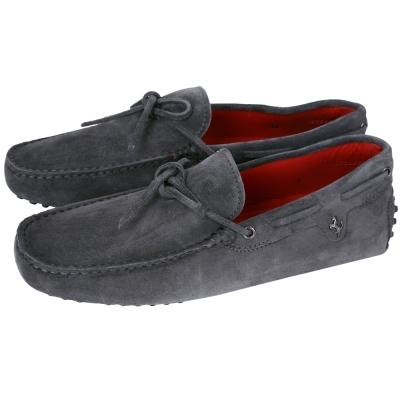 TOD'S FOR FERRARI GOMMINO 麂皮豆豆休閒鞋(灰色)