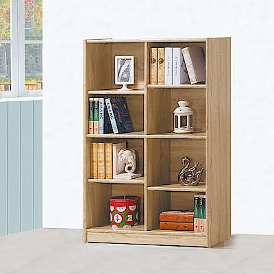 Boden-泰尼2.7尺開放式8格書櫃/收納櫃-82x30x122cm