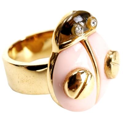 MBMJ 瓢蟲造型戒指(粉色)