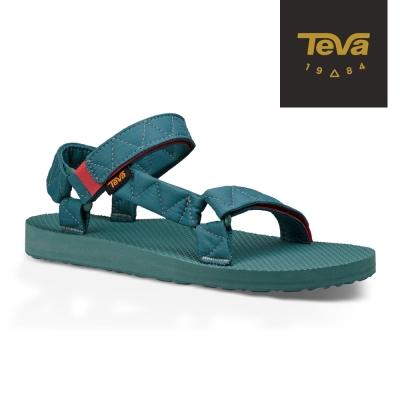 TEVA 美國-女 Original Puff 經典緹花織帶涼鞋 (水綠)