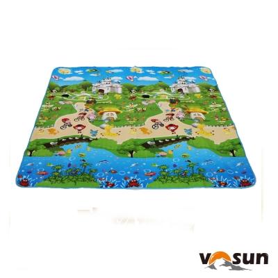 VOSUN 童趣 多用途超大加厚防水野餐墊(180×180)_動物城堡