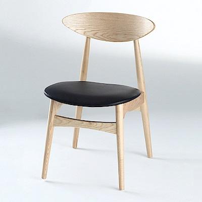 AS-多明尼卡原木皮墊餐椅-46x52x81cm