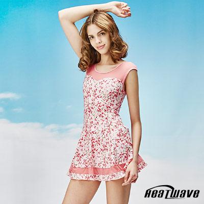 Heatwave熱浪 連身裙泳裝-粉浪漫 (有加大尺寸)