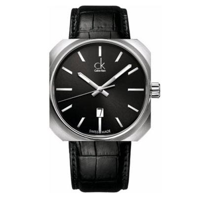 cK Solid 現代流行個性時尚腕錶-黑/42mm