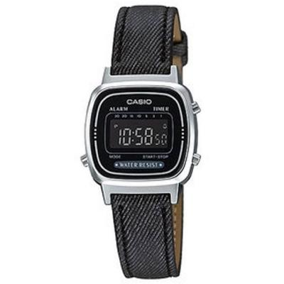 CASIO 經典小巧簡約數位皮帶錶(LA670WL-1B)-黑框X黑/24.6mm