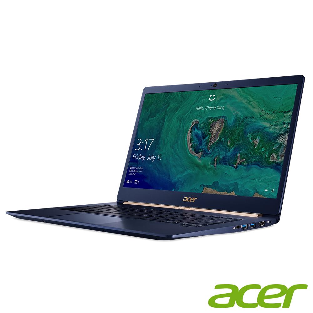 Acer SF514-52T-83U3 14吋輕薄筆電(i7-8550U/8G/512G/爵士藍