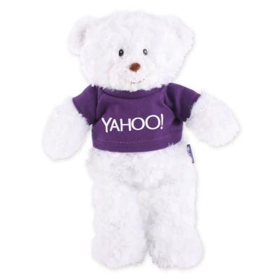 Yahoo! LOGO短T毛絨公仔-小白熊
