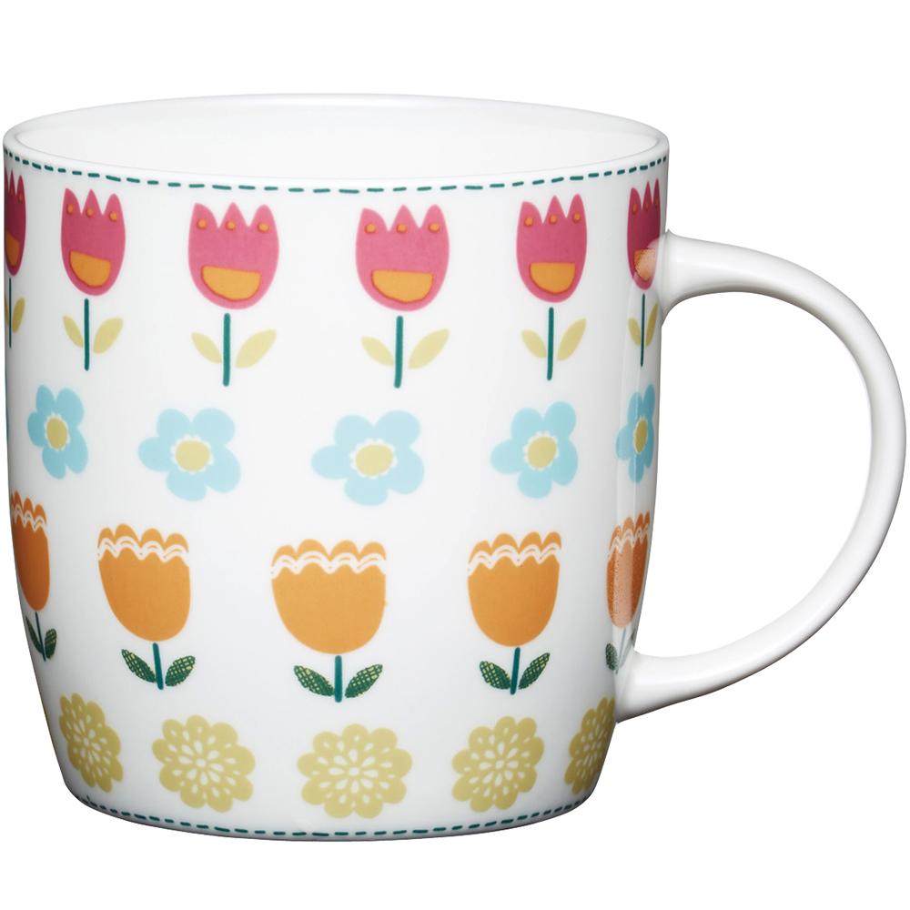 KitchenCraft 骨瓷馬克杯(鬱金香)