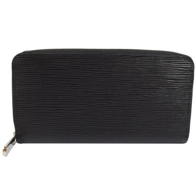 LV M61857 ZIPPY EPI 水波紋皮革拉鍊長夾.黑