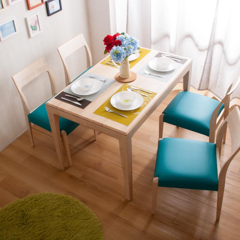 簡約風 杰羅姆餐桌+馬歇爾餐椅-121x75x77cm