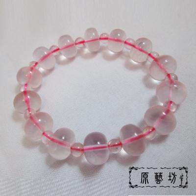 原藝坊 星光粉晶旺婚姻手珠手鍊(直徑13mm)