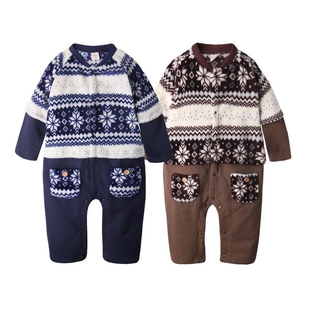 baby童衣 長袖連身衣 珊瑚絨保暖前開扣爬服50585