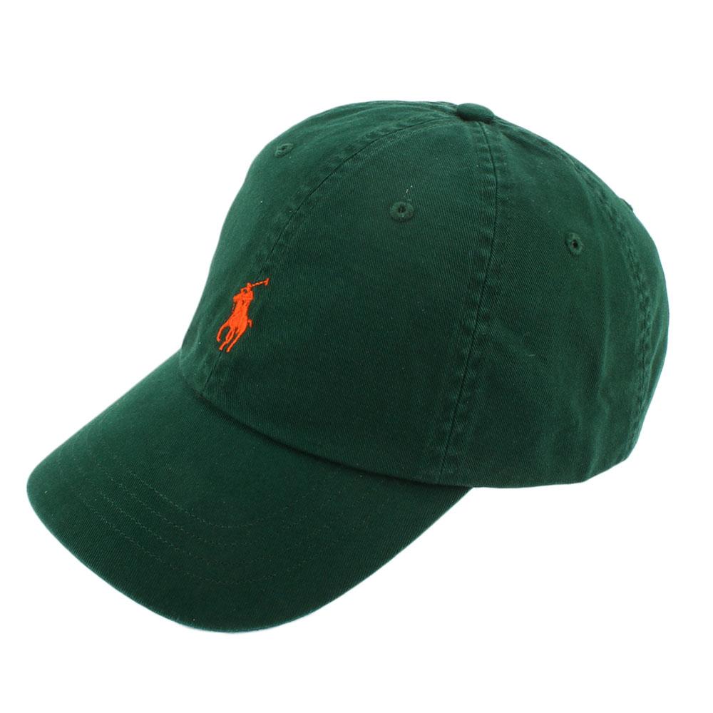 RALPH LAUREN POLO 素面小馬刺繡LOGO棒球帽-綠色