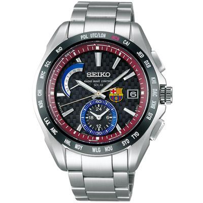 SEIKO Brightz FCB巴塞隆納太陽能電波腕錶(SAGA121J)-43mm