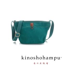 kinoshohampu 經典帆布系列簡約斜肩背梯形包 綠