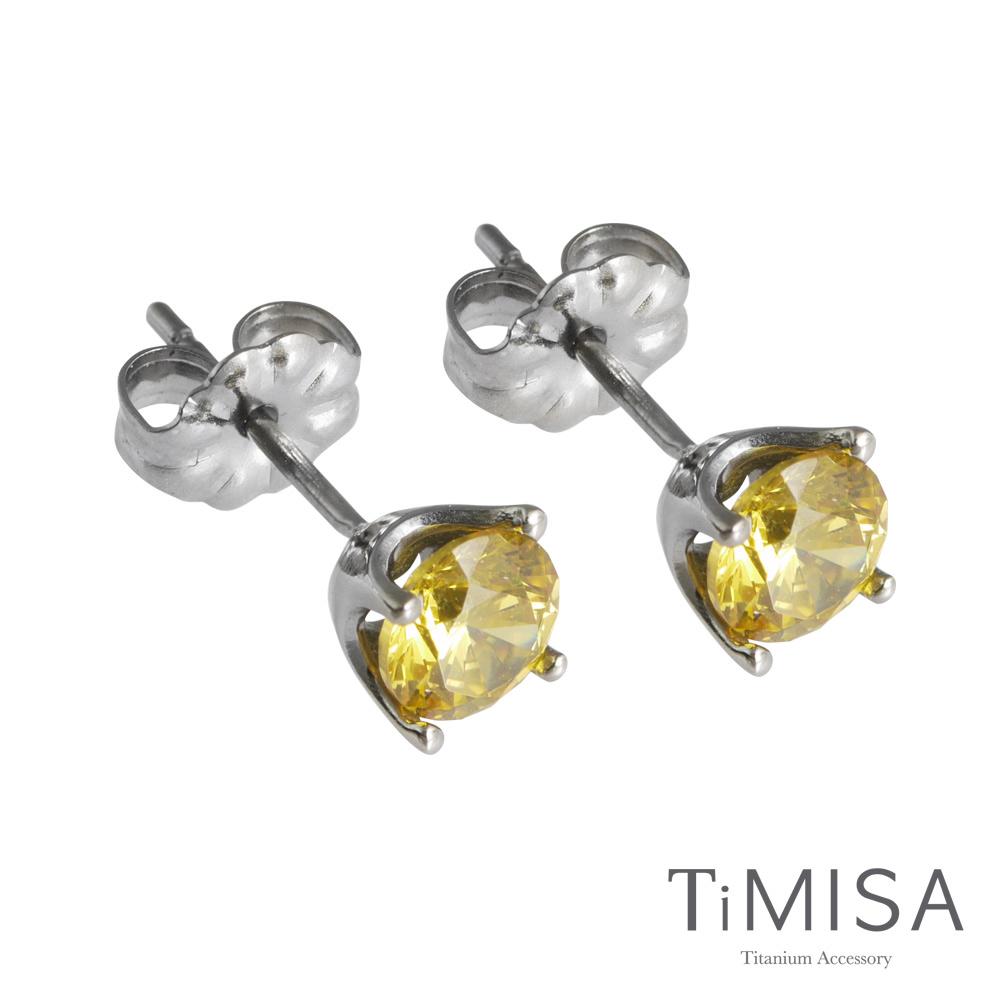 TiMISA《純鈦簡愛(S)五色可選》純鈦耳針一對