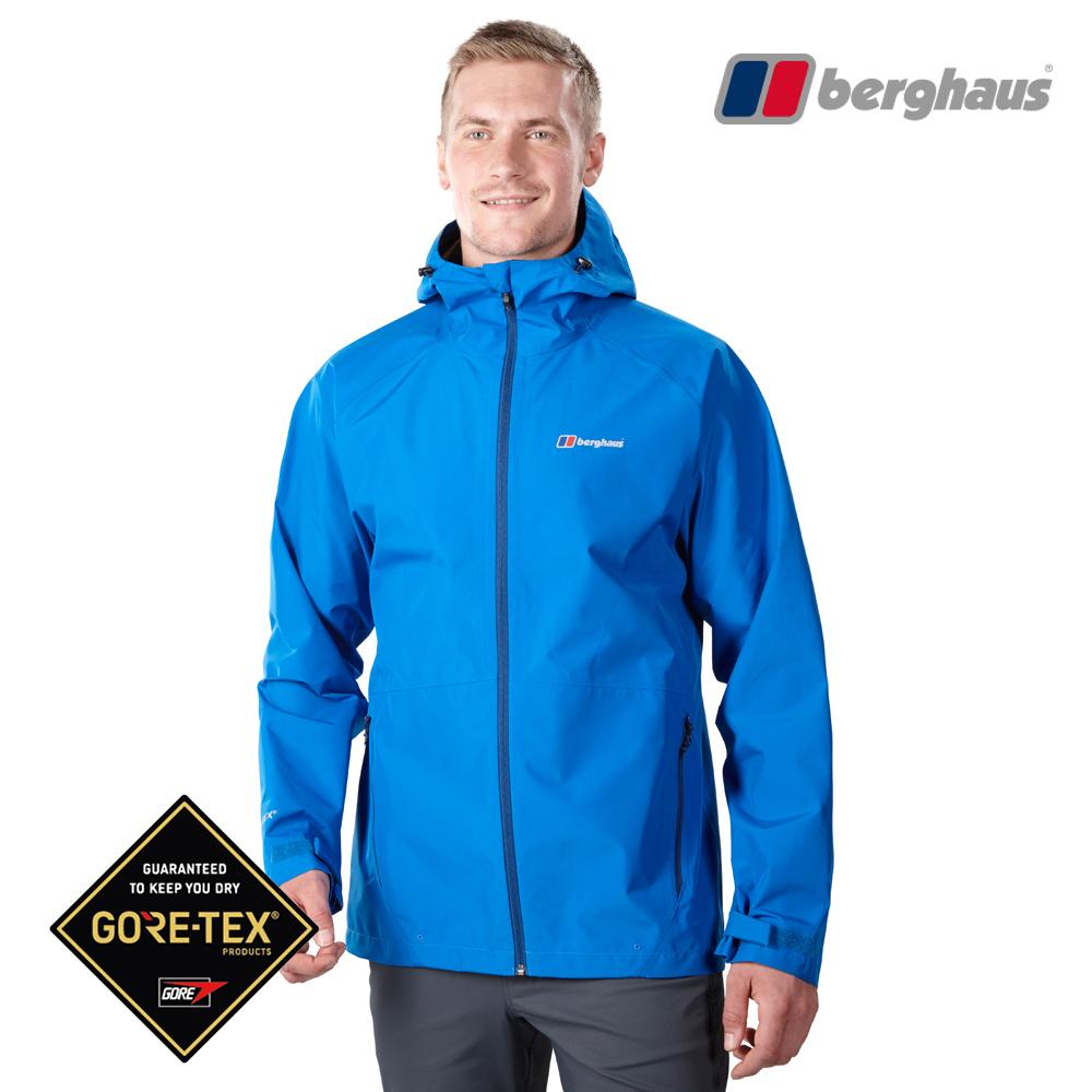 Berghaus貝豪斯男款GT輕量防水透氣連帽外套H22MV3潛水藍