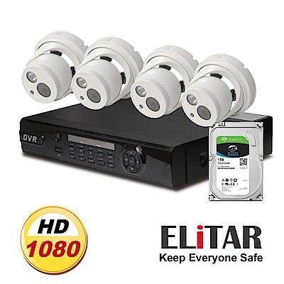 Elitar4路主機2鏡頭Seagate1TB組合
