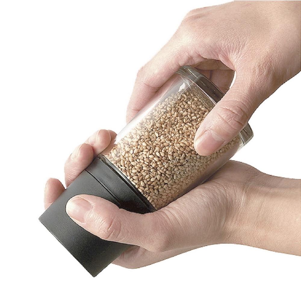 日本ASVEL 陶瓷刀刃 140ml芝麻研磨玻璃罐(黑色)