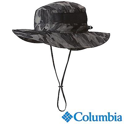 Columbia哥倫比亞 男女-防曬50快排遮陽帽-黑迷彩 UCU91620BQ