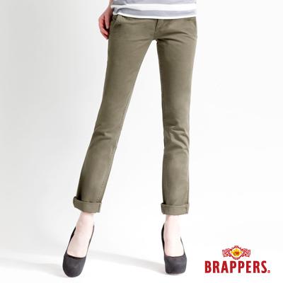 BRAPPERS 女款 Boy Firend Jeans 系列-女用直統反摺褲-綠