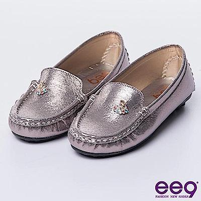 ee9-MIT經典手工-青春熱力經典素面百搭休閒豆豆娃娃鞋-鍚色