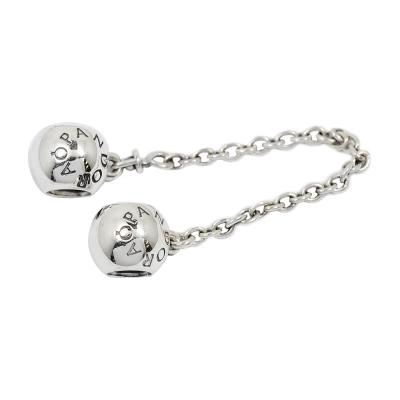 Pandora 潘朵拉 經典Pandora標誌 安全錘鍊安全扣 純銀墜飾