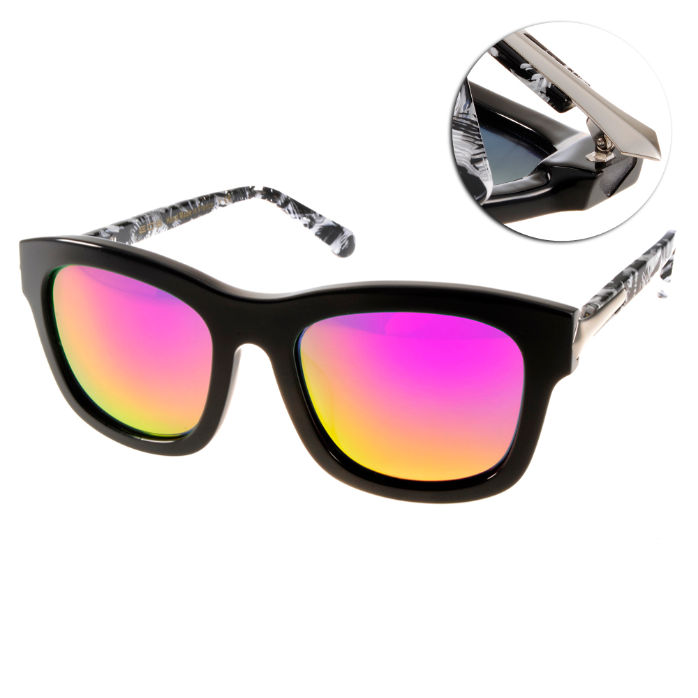EOS偏光太陽眼鏡 摩登時尚/黑白#EOSE9007 L16