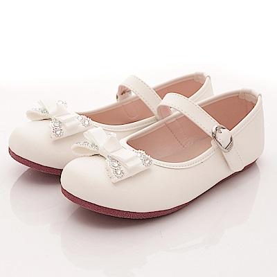 日本娃娃 閃鑽緞帶公主鞋款 5273白(中大童段)