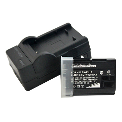 電池王 For Nikon EN-EL15 高容量鋰電池+充電器組