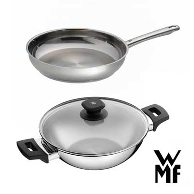 德國WMF 獨家雙鍋組 (萬用炒鍋28cm+煎鍋24cm)