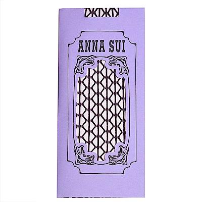 ANNA SUI 大漁網狀圖騰金蔥半統襪(紫色系)