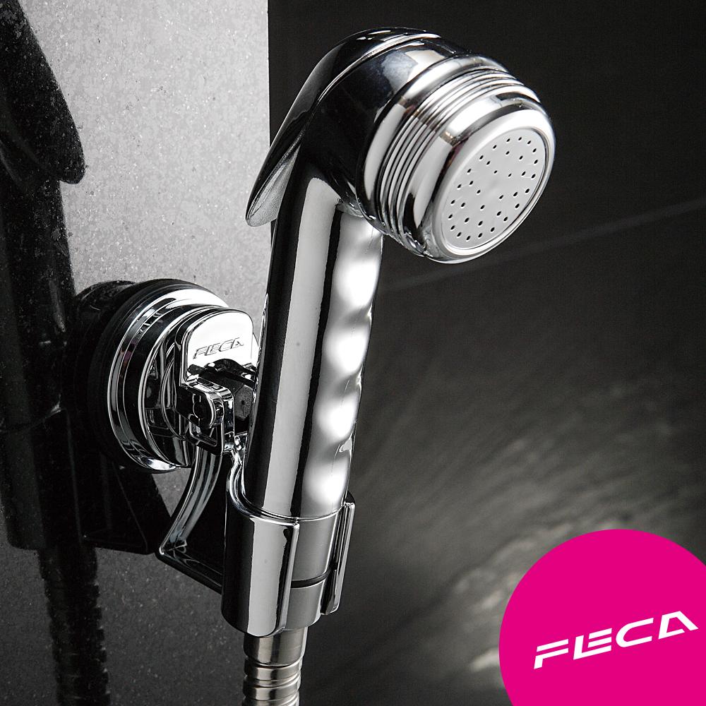 FECA非卡 無痕強力吸盤 輕巧型蓮蓬頭座(銀)