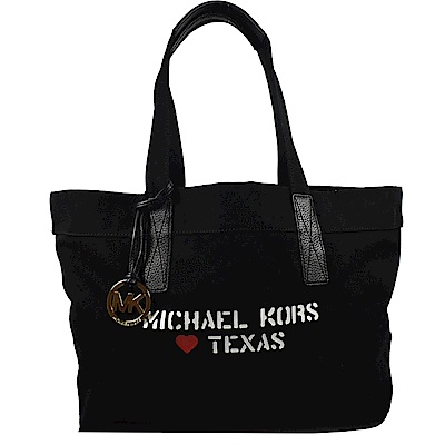 MICHAEL KORS CITY TOTE帆布托特包(黑)