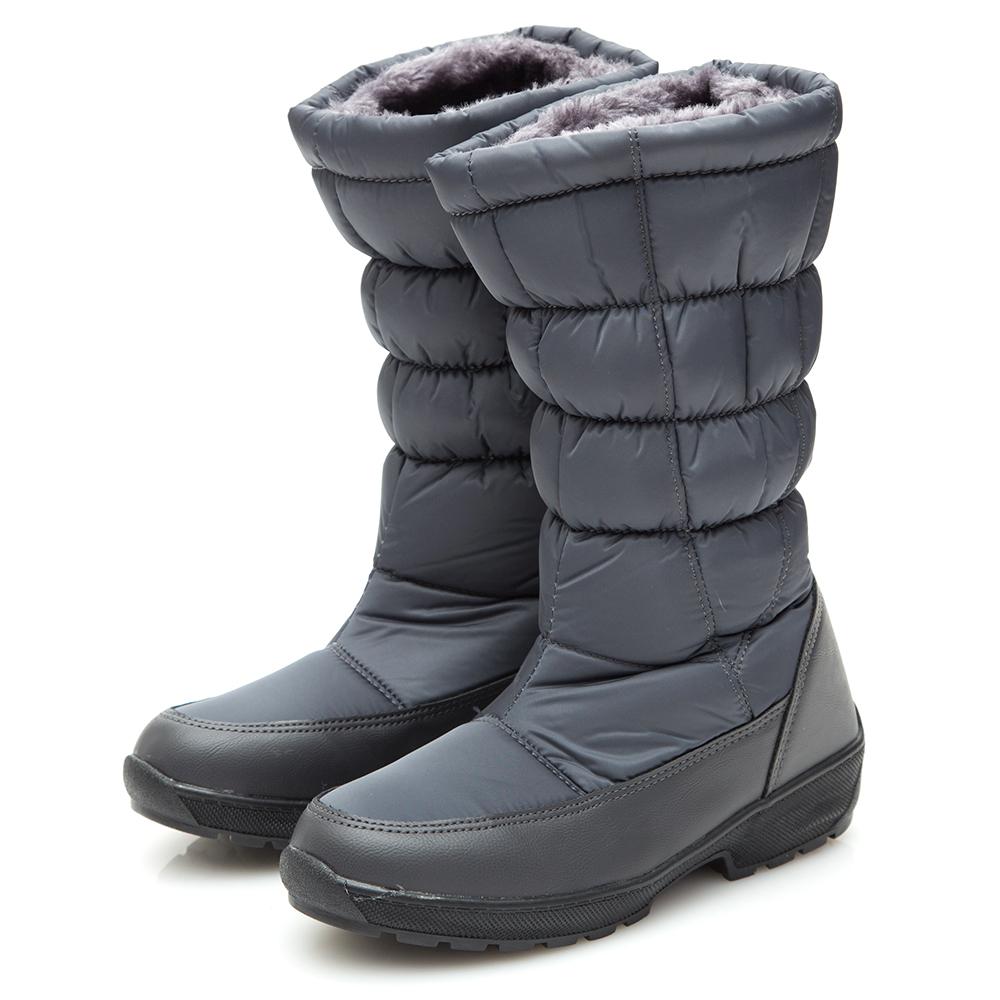 Camille s韓國空運-正韓製-2WAY車線長筒太空雪靴-灰色