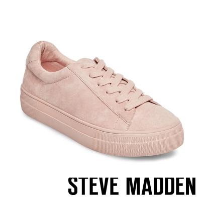 STEVE MADDEN-GISELA-PINK 麂皮綁帶休閒鞋-粉色