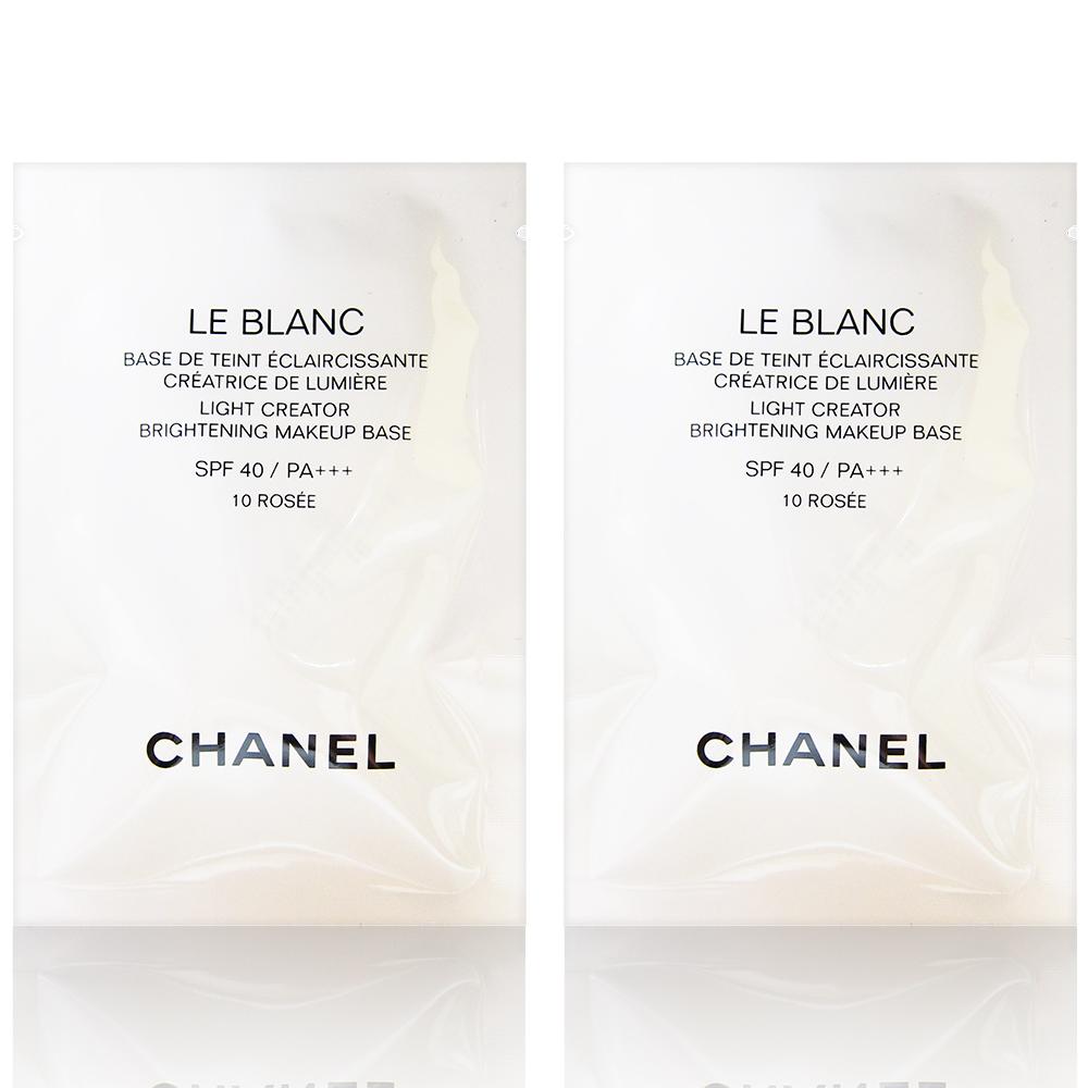 CHANEL 香奈兒 珍珠光感超淨白防護妝前乳 #10玫瑰色 2.5ml X2入