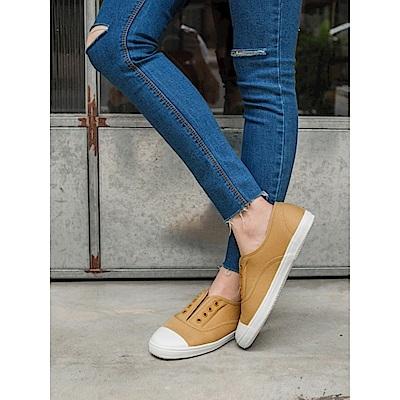 台灣製造~免綁帶內裡羊羔毛休閒帆布鞋.4色-OB大尺碼