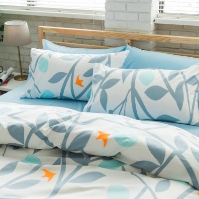 美夢元素 台製天鵝絨-枕套床包二件式-單人 (剪影)